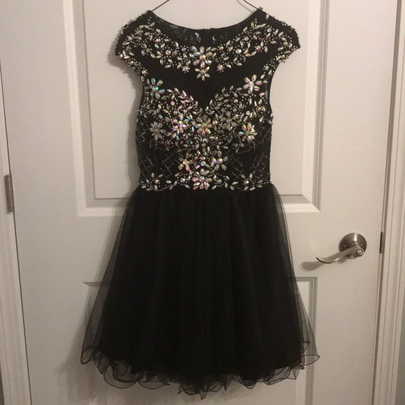 Dancing Queen Dresses & Skirts - black and silver homecoming dress